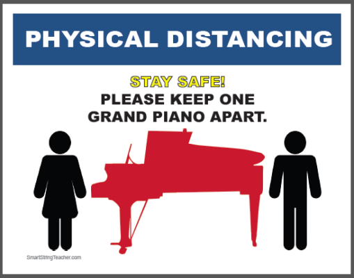 Physical Distancing Signs Music